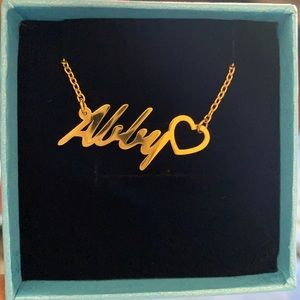Moonlight Collections Heart Name Necklace Abby